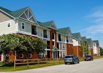 Exterior Of Apartments In Hampton Virginia