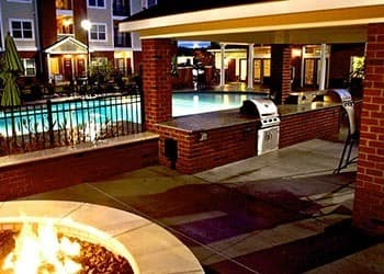 Fire Pit At Night At Apartments In Hampton Virginia