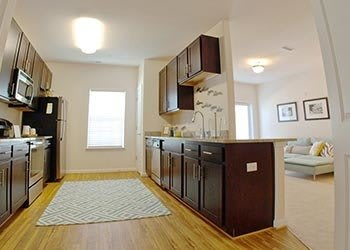 Kitchen At Apartments In Hampton Virginia