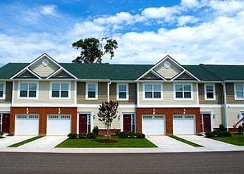 Townhome Exterior At Apartments In Hampton Virginia