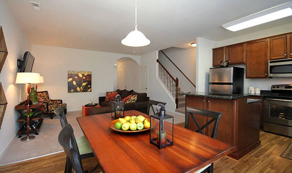 Dining Room At Townhomes In Chester Virginia