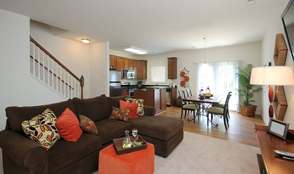 Living Room At Townhomes In Chester Virginia