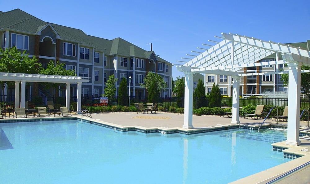 Swiming Pool At Apartments In Chester Virginia