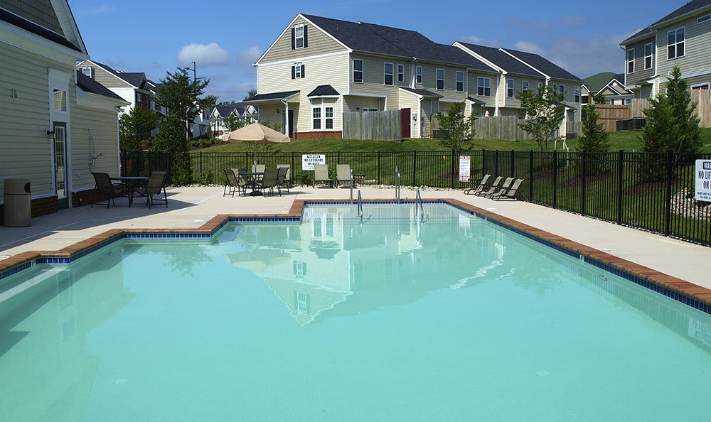Swimming Pool At Townhomes In Chester Virginia