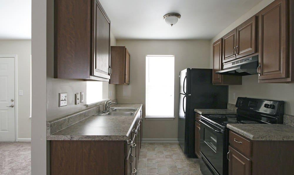 Kitchen At Apartments In Chesapeake Virginia