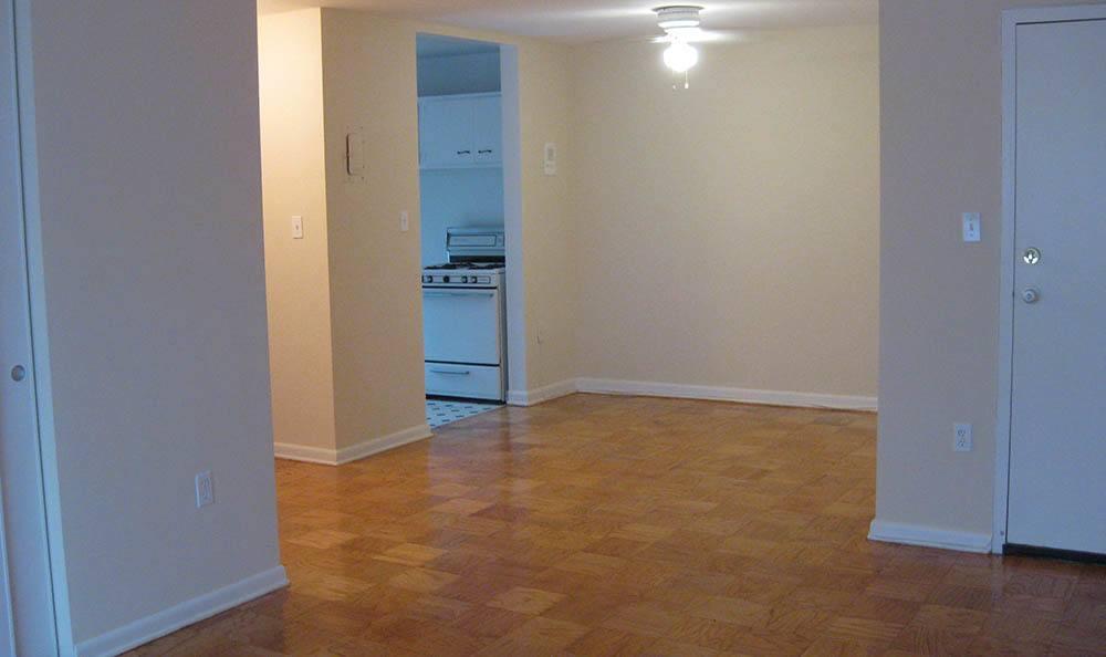 Hardwood floors at apartments in Lakewood