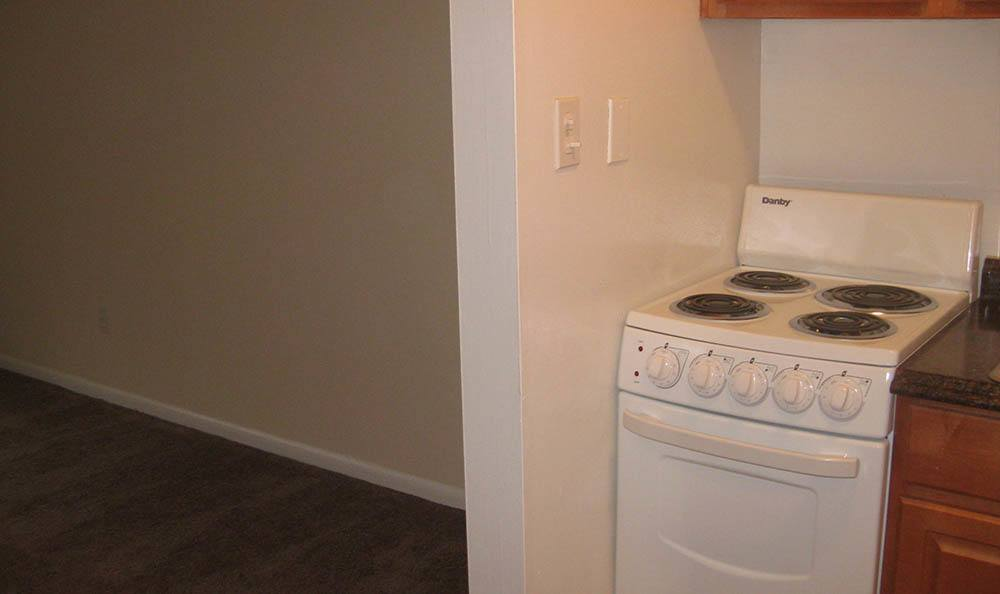 Kitchen at apartments in Lakewood