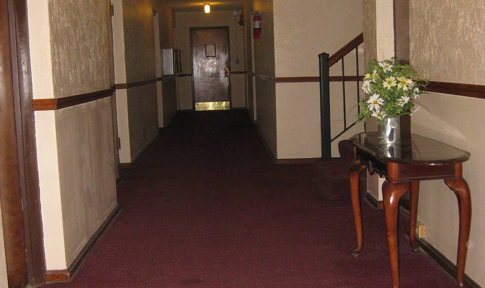 Hallway at Edgewater South Apartments in Lakewood