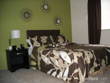 Bedroom at apartments in Lakewood