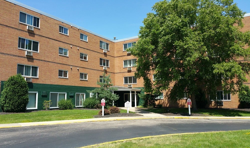 Exterior View Of Dorchester Village Apartments