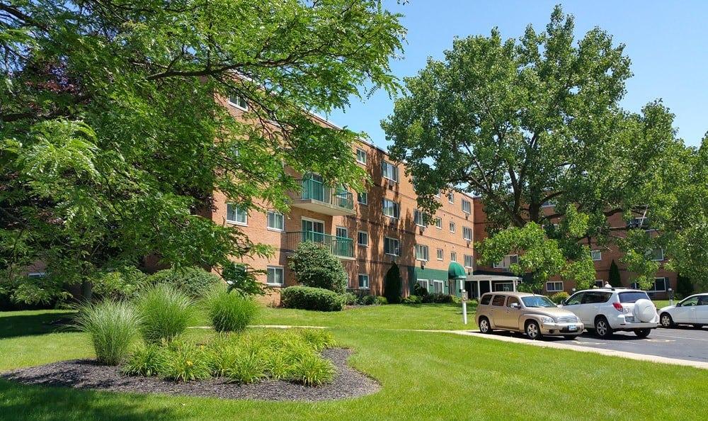 Parking And Landscape At Dorchester Village Apartments