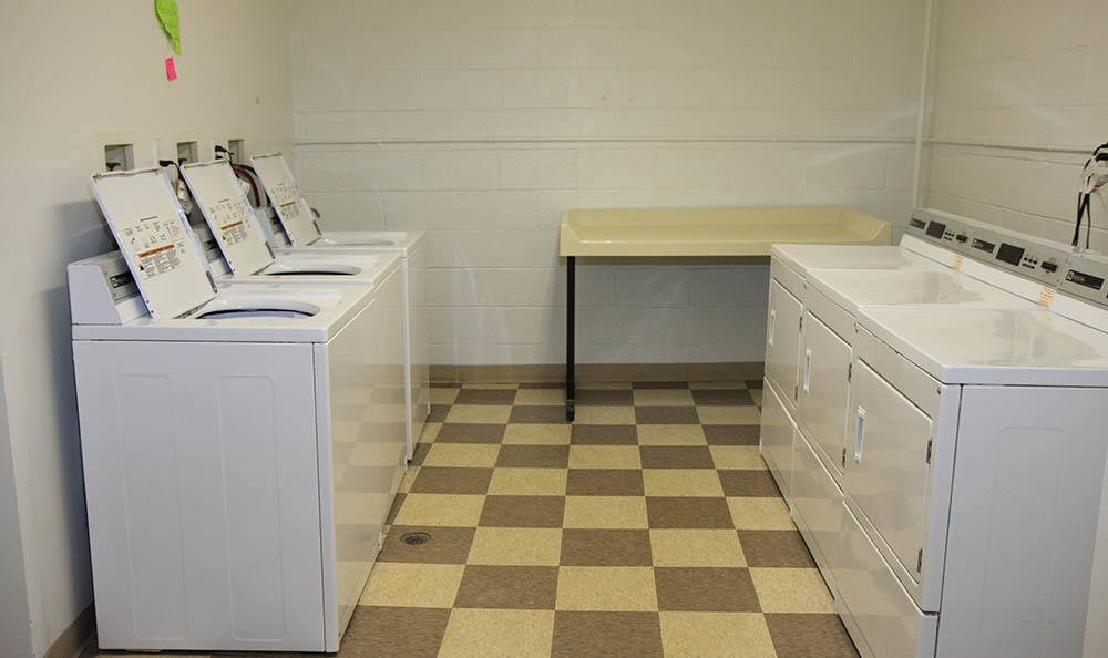 Laundry room at apartments in OH