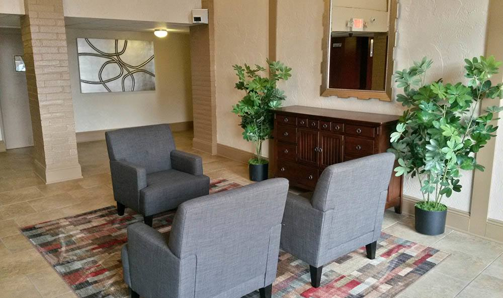Lobby at apartments in Warrensville Heights