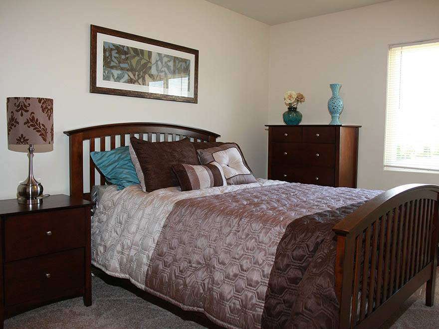 Bedroom at Clarkwood Greens Apartments