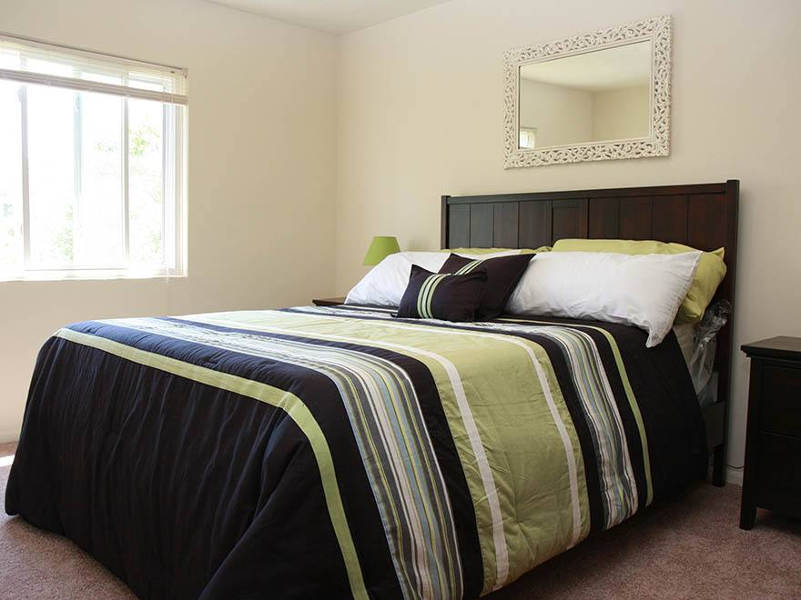 Bedroom at apartments in Warrensville Heights