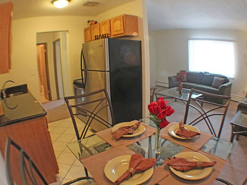 Kitchen at senior community in Euclid