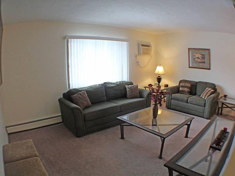 Living room at senior community in Euclid
