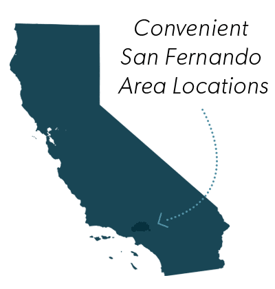 Convenient San Fernando Area Locations - California Map