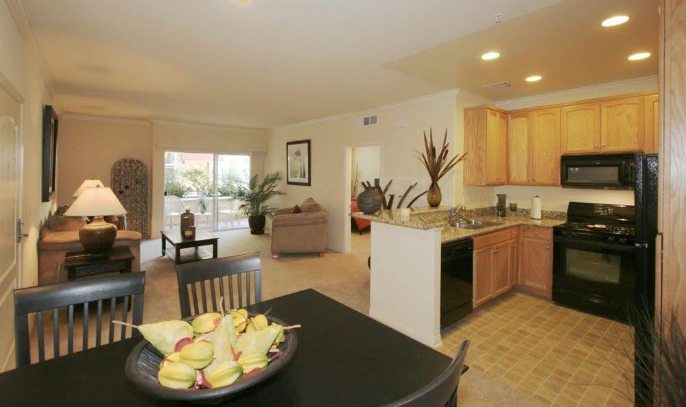 Model Dining Room at The Villagio in Northridge