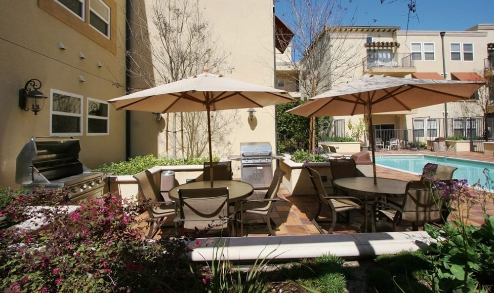 Exterior Shot of the BBQ Area at The Villagio