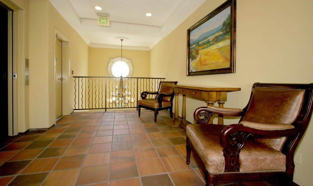 Lobby At The Villagio in Northridge, CA