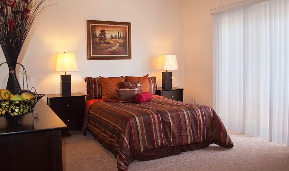 Model bedroom At The Ridgeview