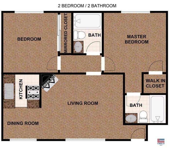 2 Bedroom 1 bathroom apartment