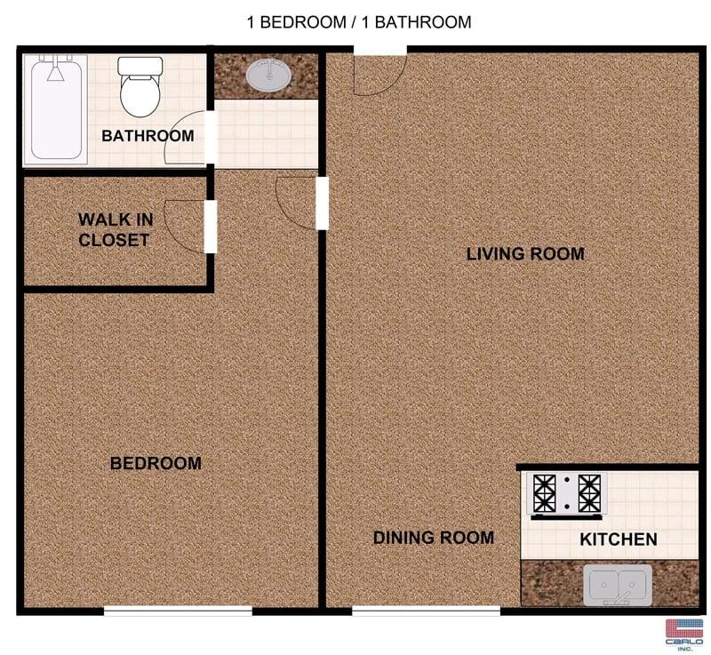1 Bedroom apartment with balcony