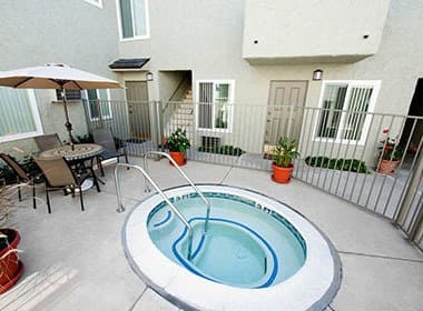 Pool on the deck are at The Terrace in Tarzana