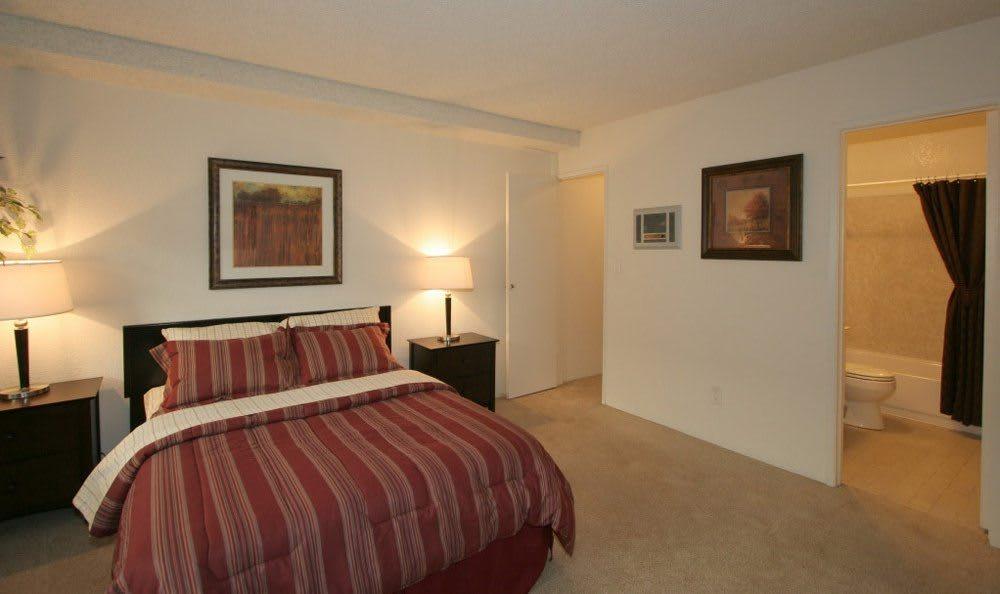 Model Bedroom at The Esplanade in Lake Balboa