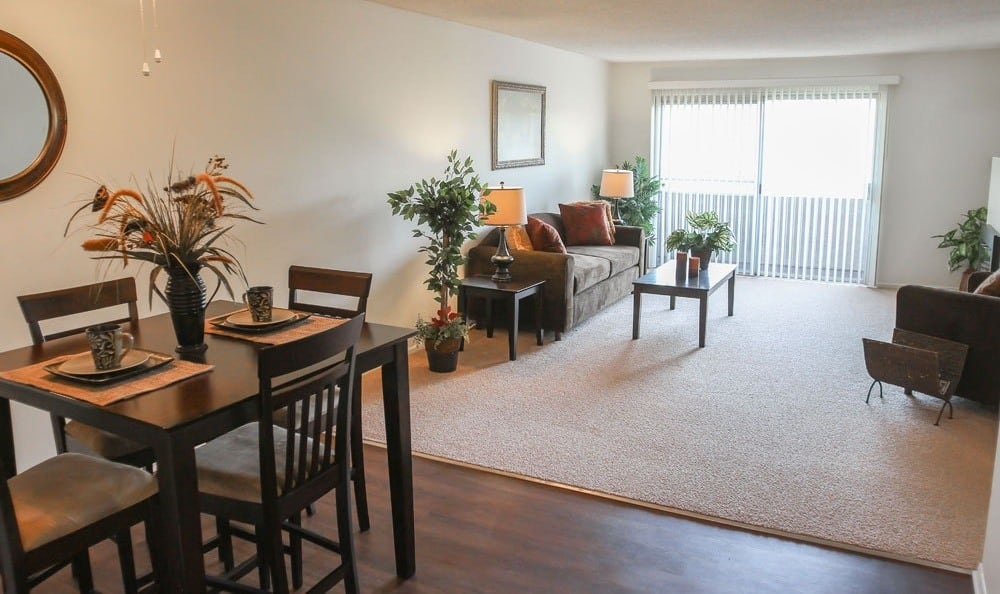 Living and dining room at The Parkview
