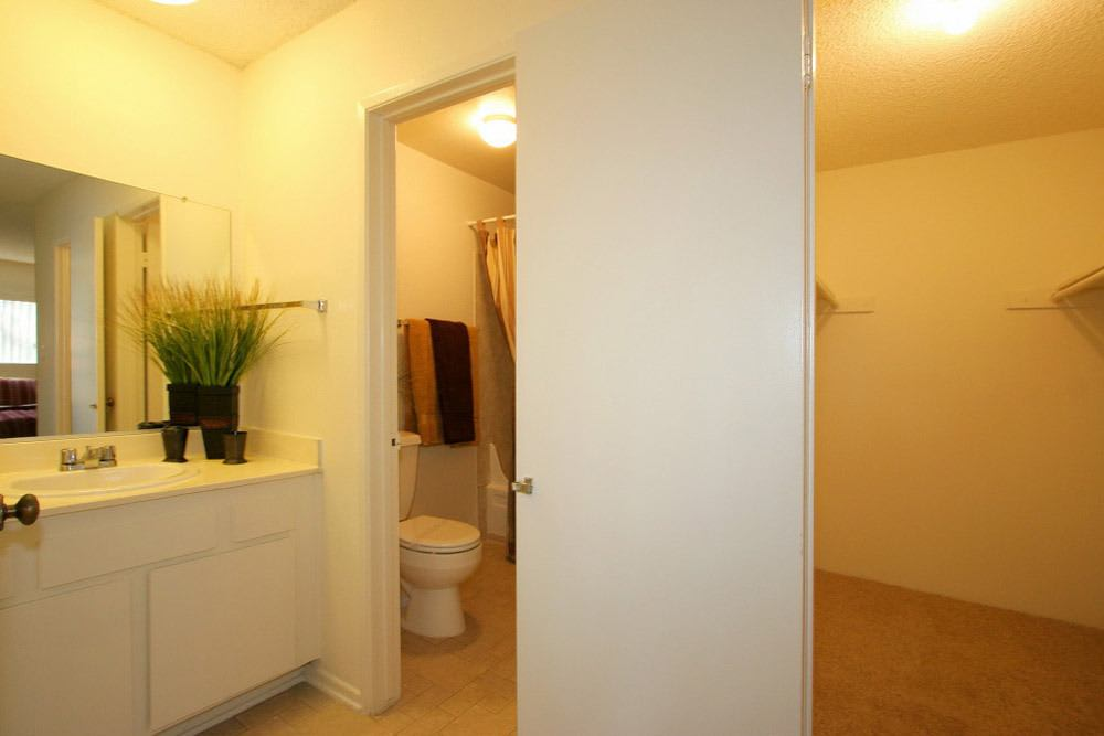 Model Walk-in Closet and Bathroom At The Crossroads