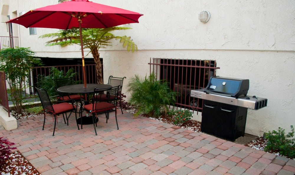 Patio at apartments in Van Nuys