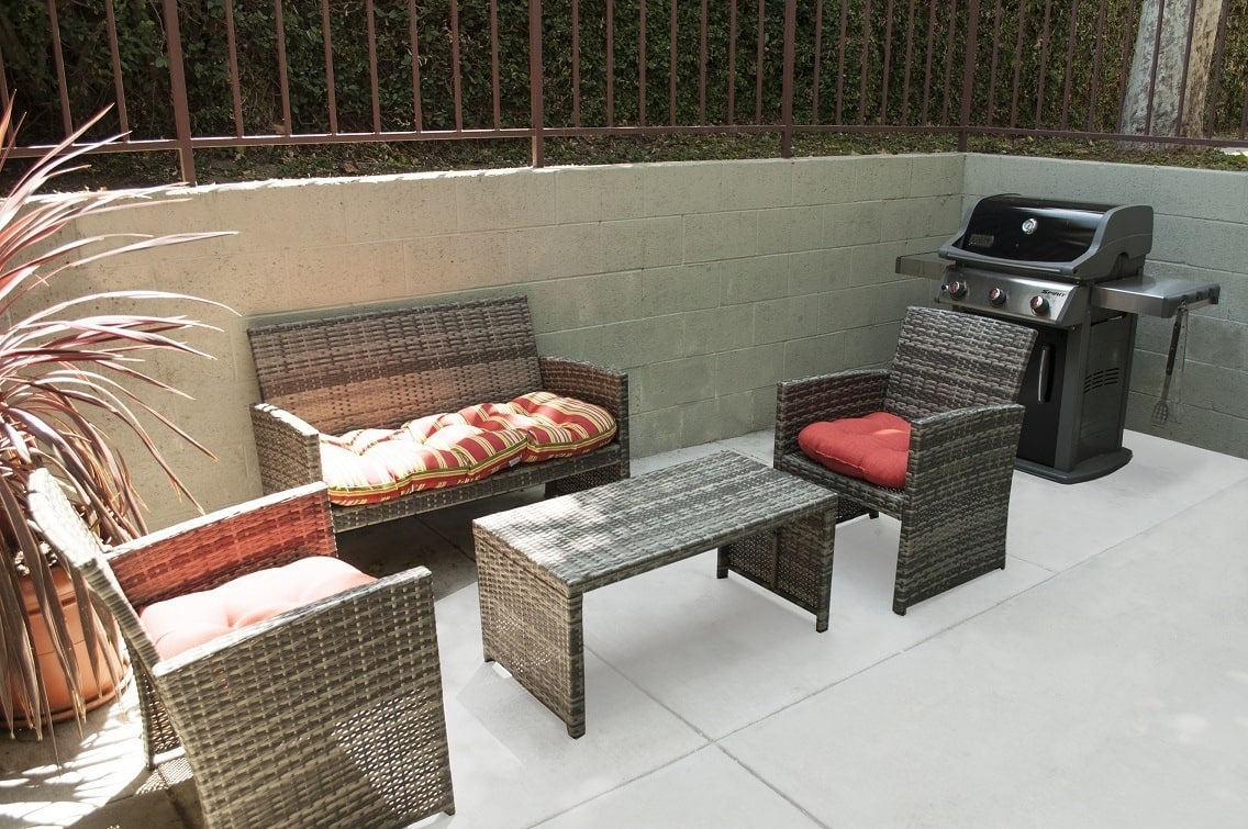 Outdoor grilling station at The Diplomat in Studio City, California