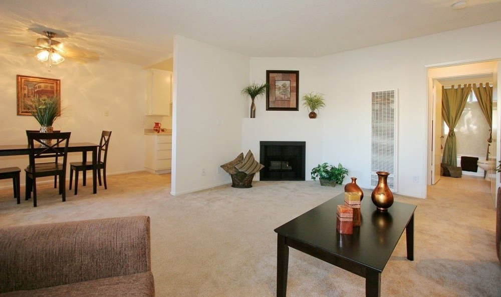Model Living room At The Enclave