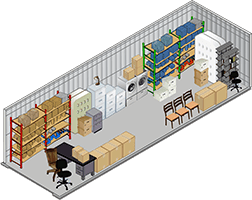 10x20 storage unit at Anytime Storage