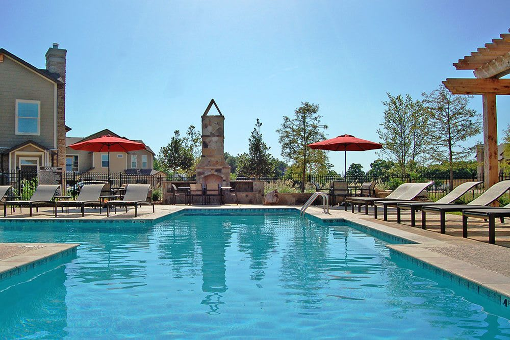 Relax poolside by the resort style pool at our Shreveport apartments