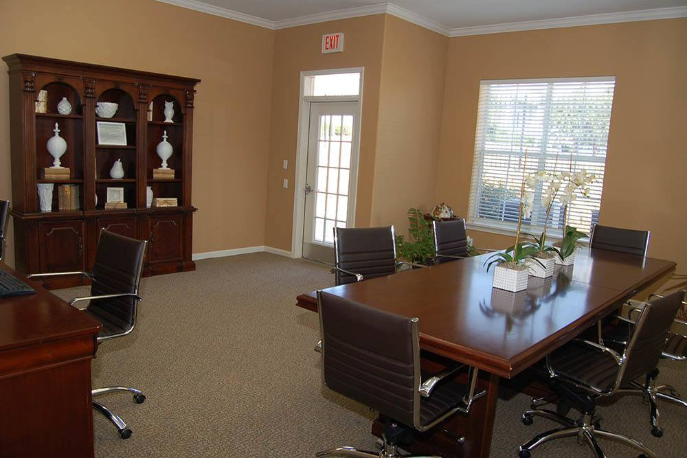 The rental office at The Village at Westlake Apartment Homes