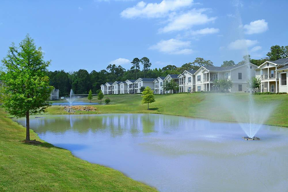 The Village at Westlake Apartment Homes offers scenic views