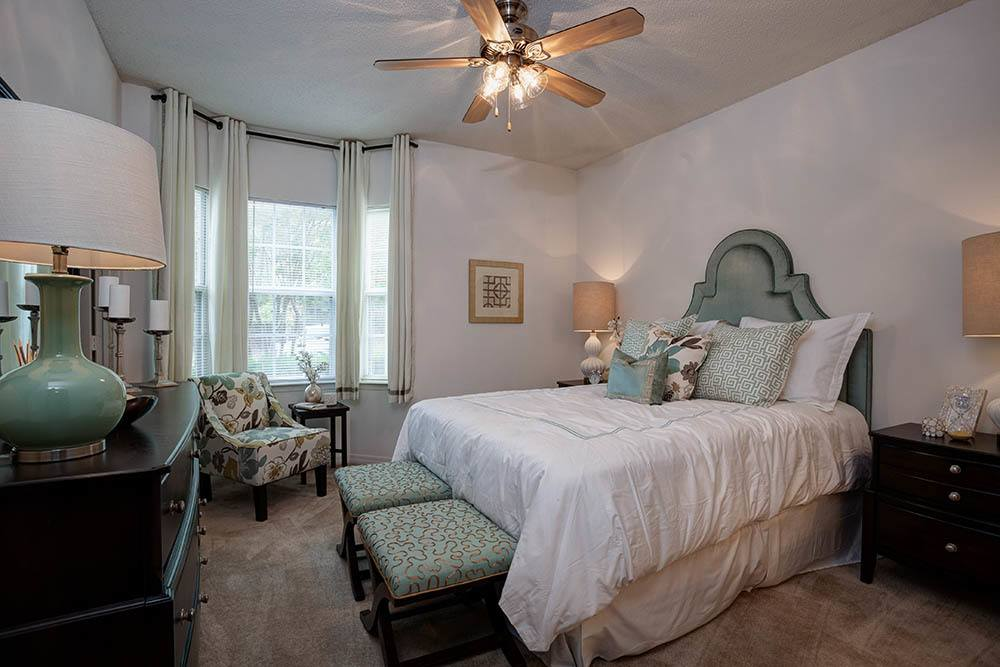 Master Bedroom At The Grove Apartments