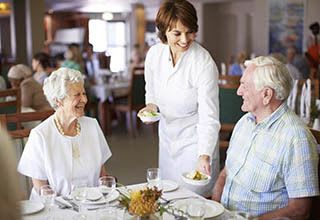 Food and nutrition offerings at Portage senior living.