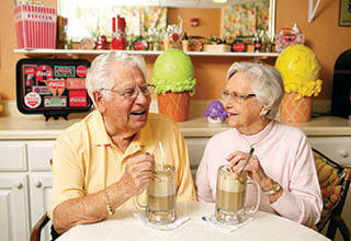 Happy senior couple enjoying life at Rittenhouse Village