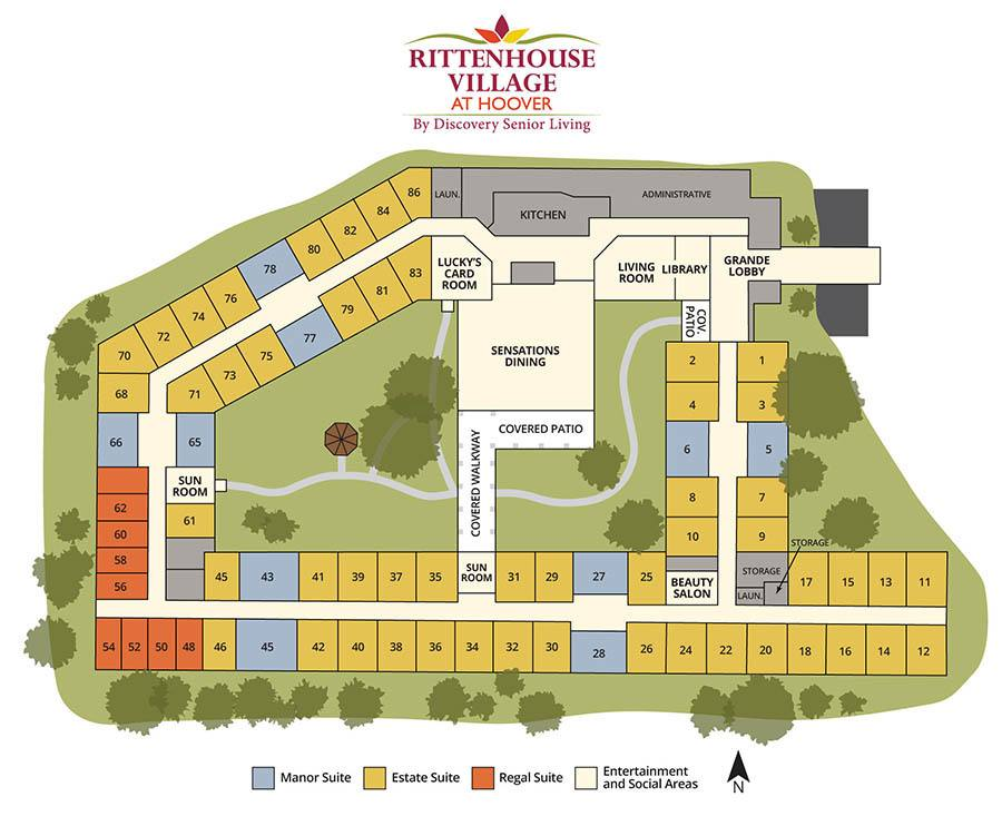 Senior living community in Hoover AL site plan