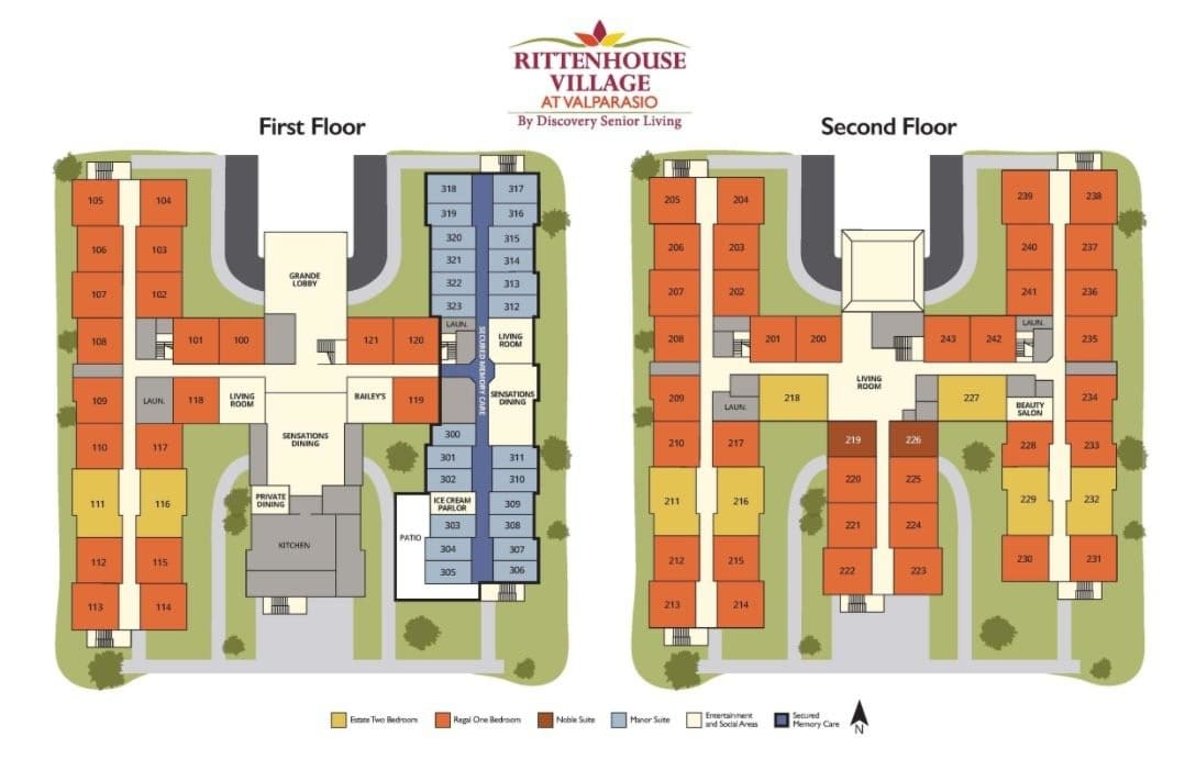 Senior living community in Valparaiso IN site plan