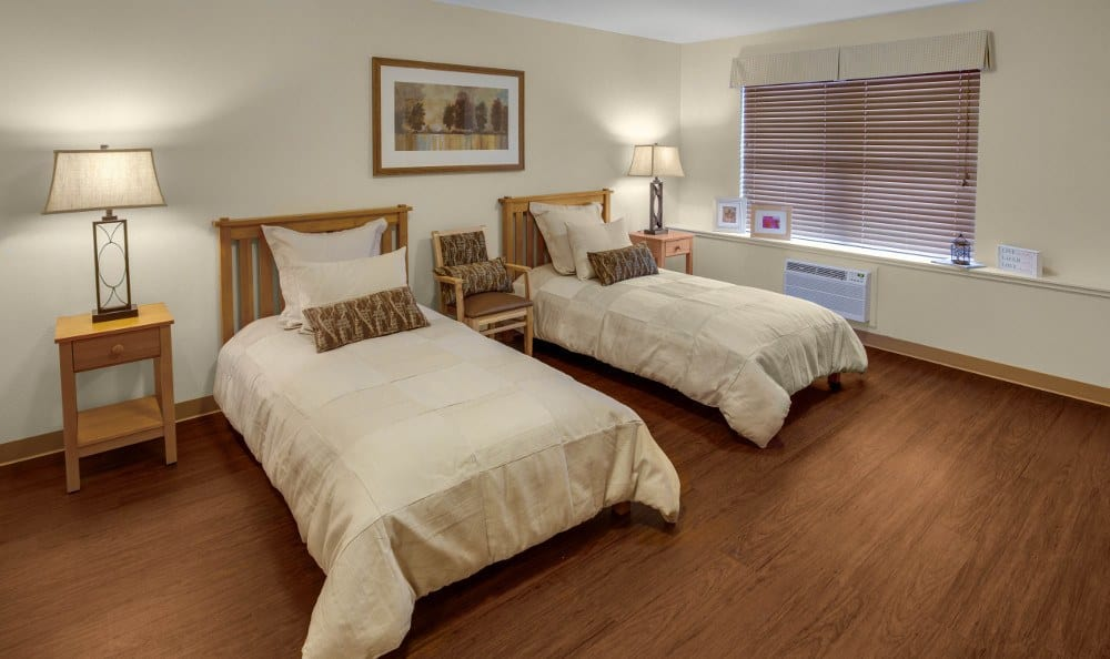 Spacious senior living bedrooms in Aurora, CO