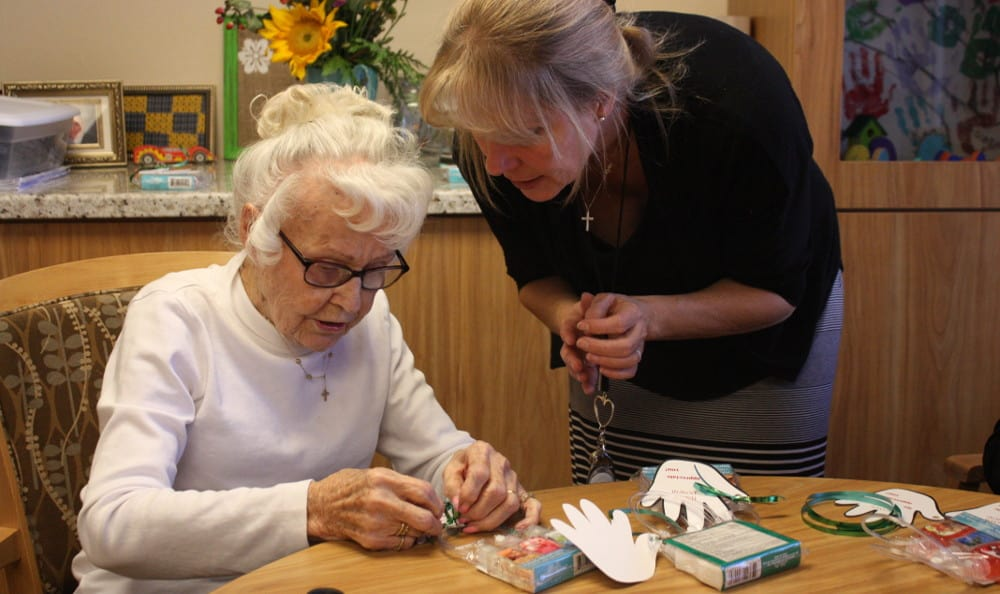 Craft-time at Grace Point Place is the best time!