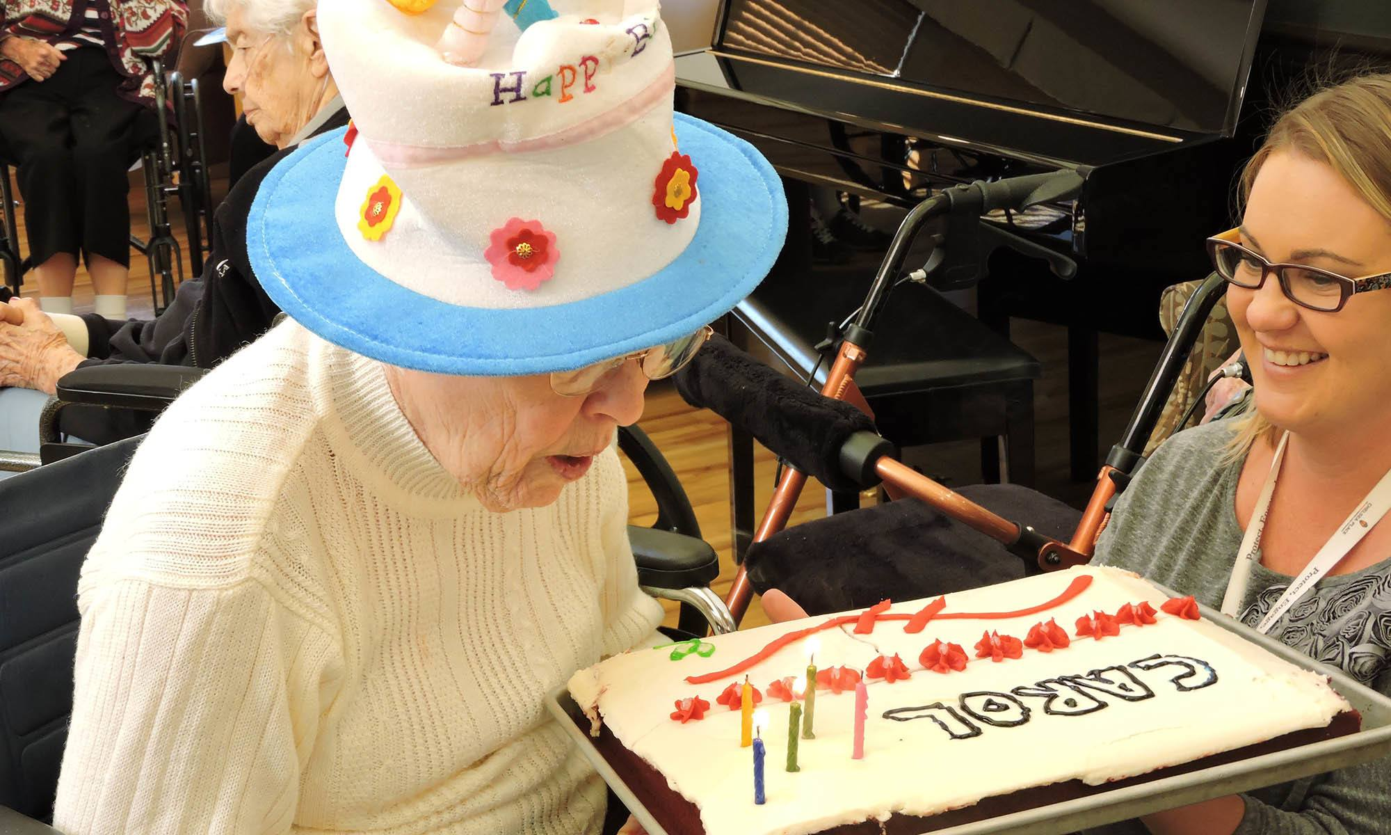 Birthday party at senior living in Westminster, CO