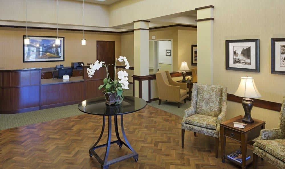 Lobby our at senior living facility in Westminster, CO