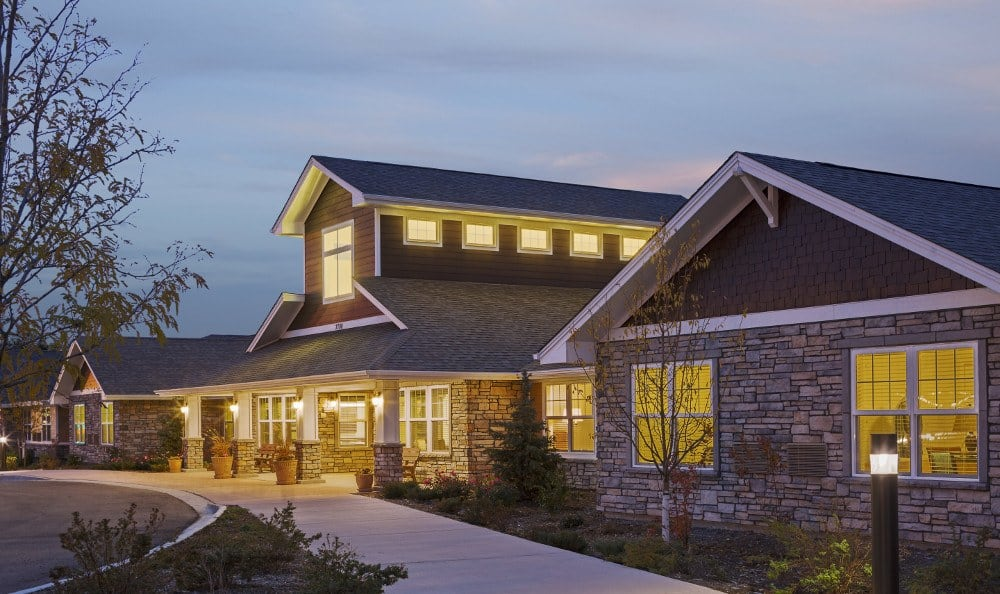 Front of our senior living facility in Westminster, CO