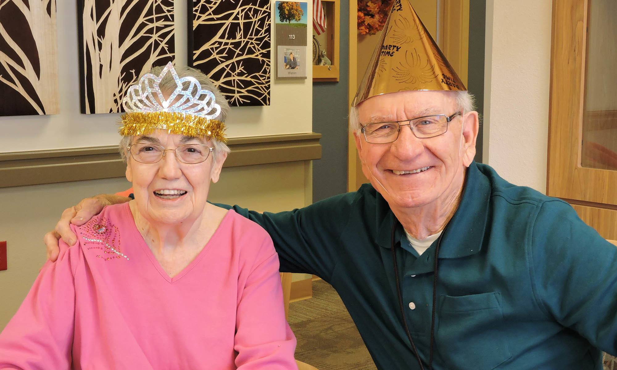 Happy residents at senior living in Burr Ridge